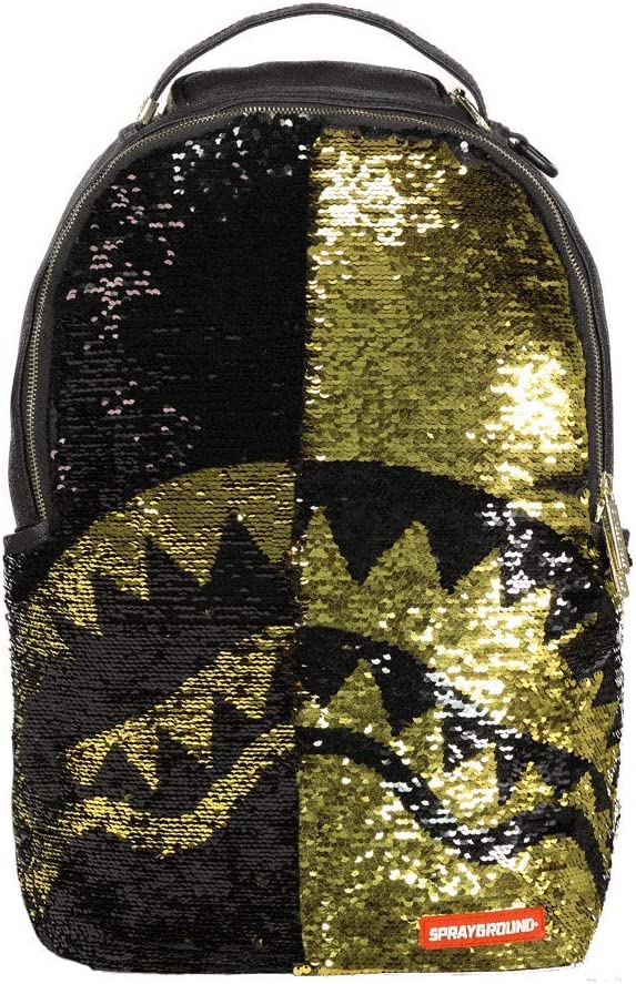 SPRAYGROUND BACKPACK GOLD SEQUIN SHARK