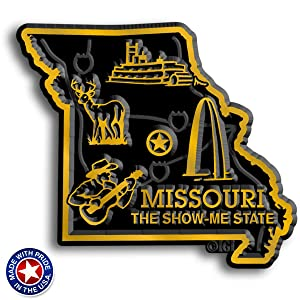 Missouri State Map Magnet
