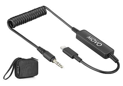 Movo TCB5 - Cable adaptador de micrófono TRS macho de 3,5 mm a ...