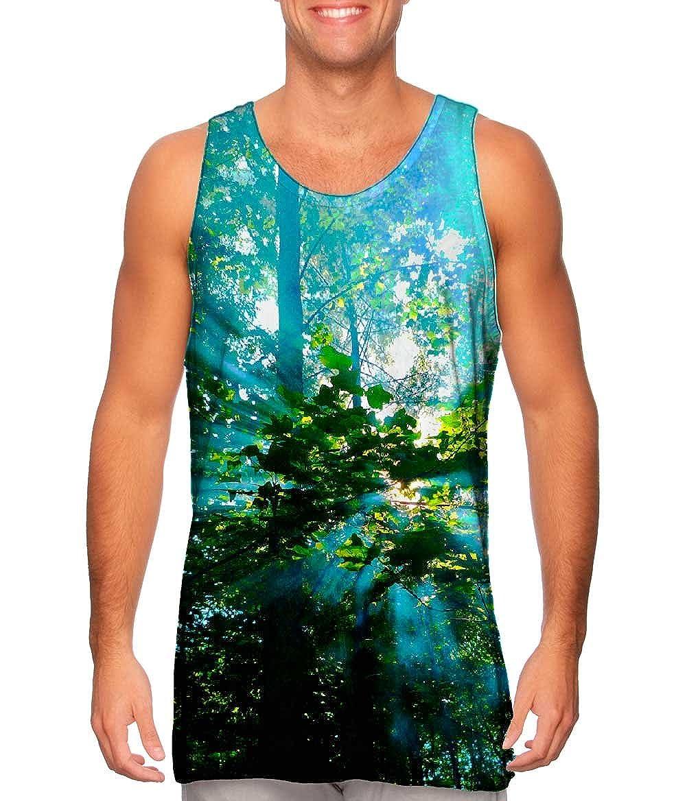 Yizzam Rays of Sun Through Smoke in The Trees Mens Tank Top Tshirt
