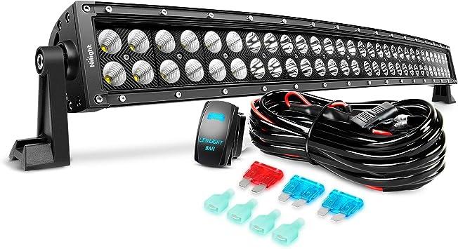"10D 36Inch 4-Row 4680W Led Light Bar Spot Flood Car Truck 32/""42/""+Free Wiring kit"