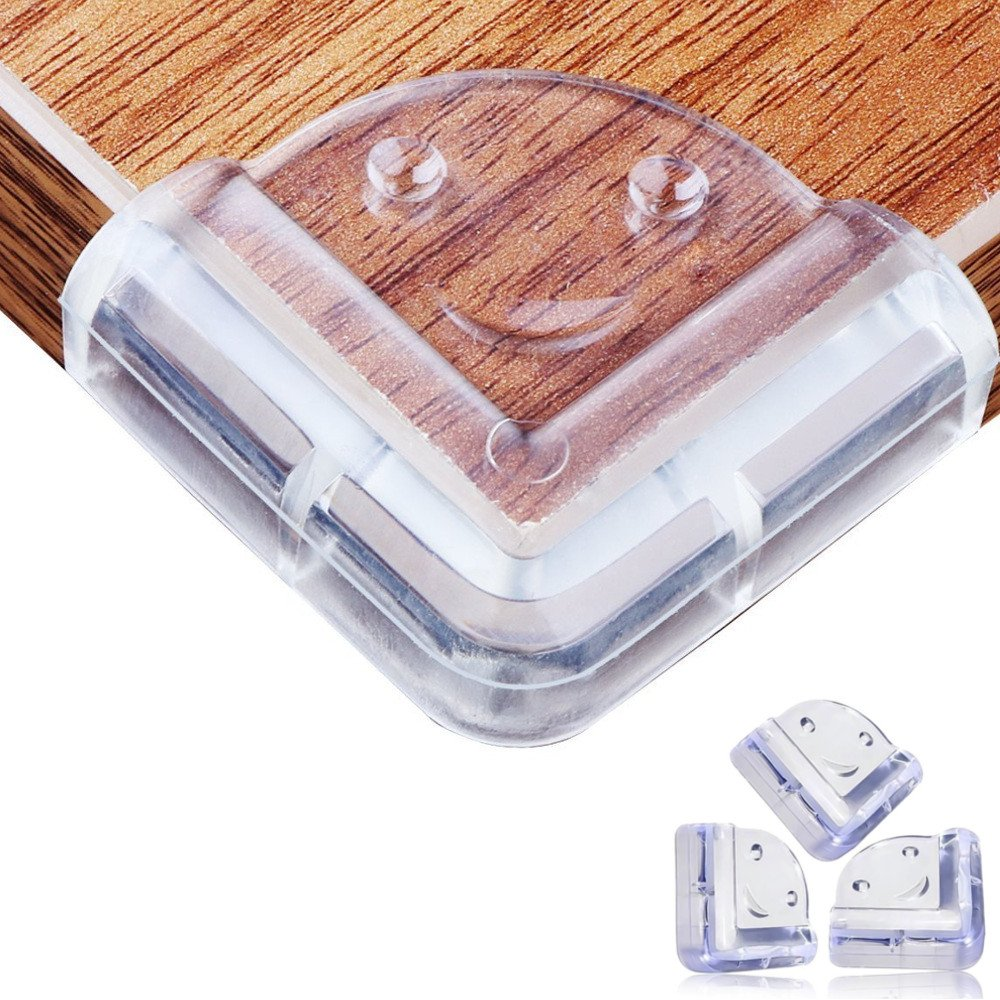 20PCS Baby Proofing Corner Guards Bumpers, WCIC Clear Safety Edge Corner Guards Ultimate Baby Safety Child Corner Protector for Furniture Fit for Glass Coffee Table