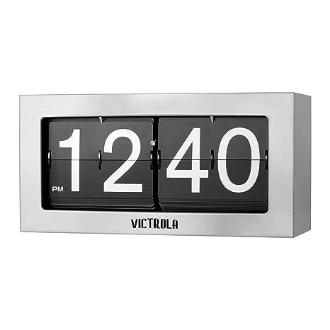Amazon.com: Victrola - Reloj retro con tapa Plateado ...