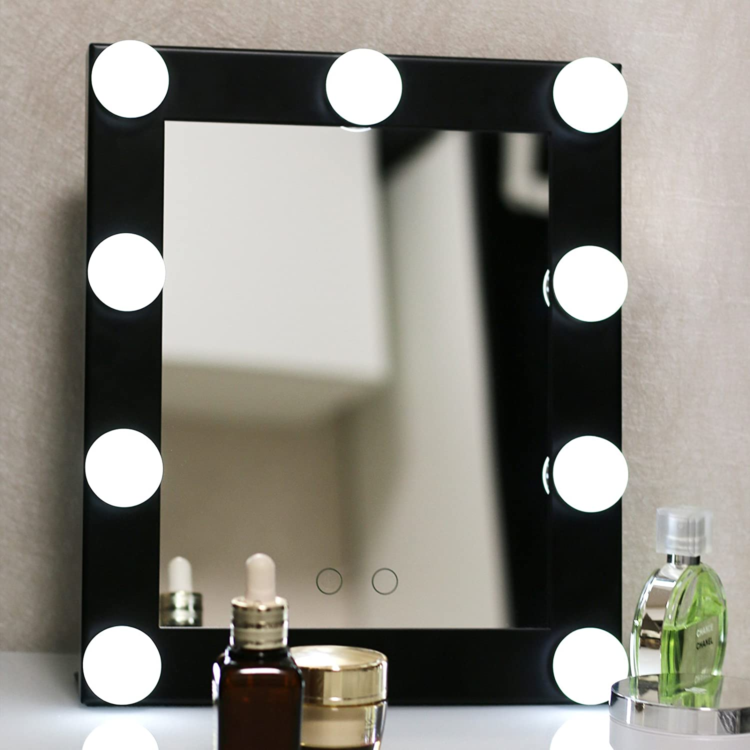 Amazon com  Yvettevans Hollywood Makeup Vanity Mirror with Light Tabletops  Lighted Mirror with Dimmer Stage Beauty Mirror Valentine s Day Gift Small. Amazon com  Yvettevans Hollywood Makeup Vanity Mirror with Light