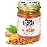 Big Spoon Roasters Fiji Ginger Almond Butter With Sea Salt - Keto Friendly Almond Ginger Butter - Crunchy Almond Butter With Bee-Friendly Almonds - Gourmet, Pure, Vegan Almond Nut Butter - 13 Ounces
