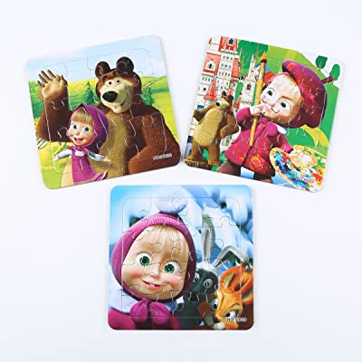 3 PCS Jigsaw Puzzles Masha and Bear (020-123)