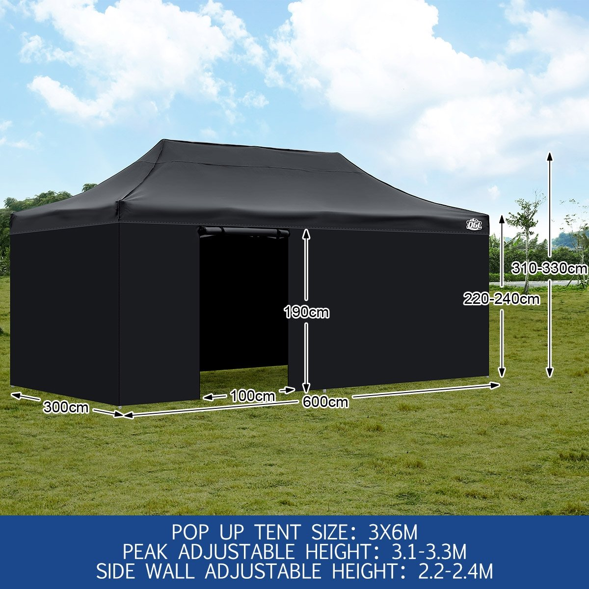 ... Oztrail Bungalow 9 Ogl Pop Up Gazebo Outdoor Folding Marquee Canopy Party Tent 3x6m ... & Oztrail Bungalow 9 - Ogl Pop Up Gazebo Outdoor Folding Marquee ...