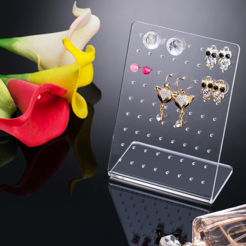 Da.Wa 72 trous femmes style moderne bijoux boucles doreilles bijoux pr/ésentoir pr/ésentoir