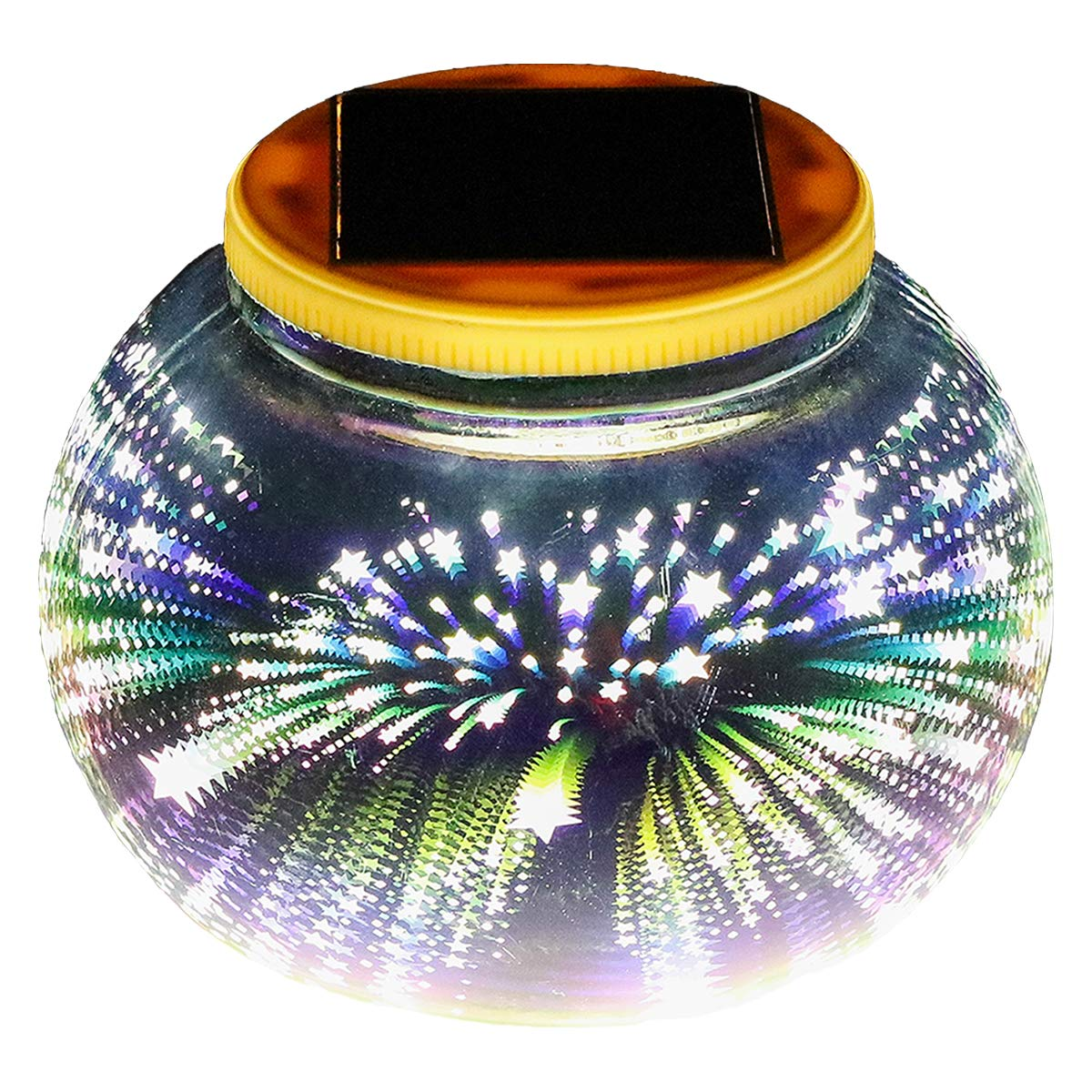 Mosaic Solar Light,Color Changing/Weatherproof Crystal Glass Globe Ball Light for for Patio, Garden, Yard,Party, Outdoor/Indoor Decoration