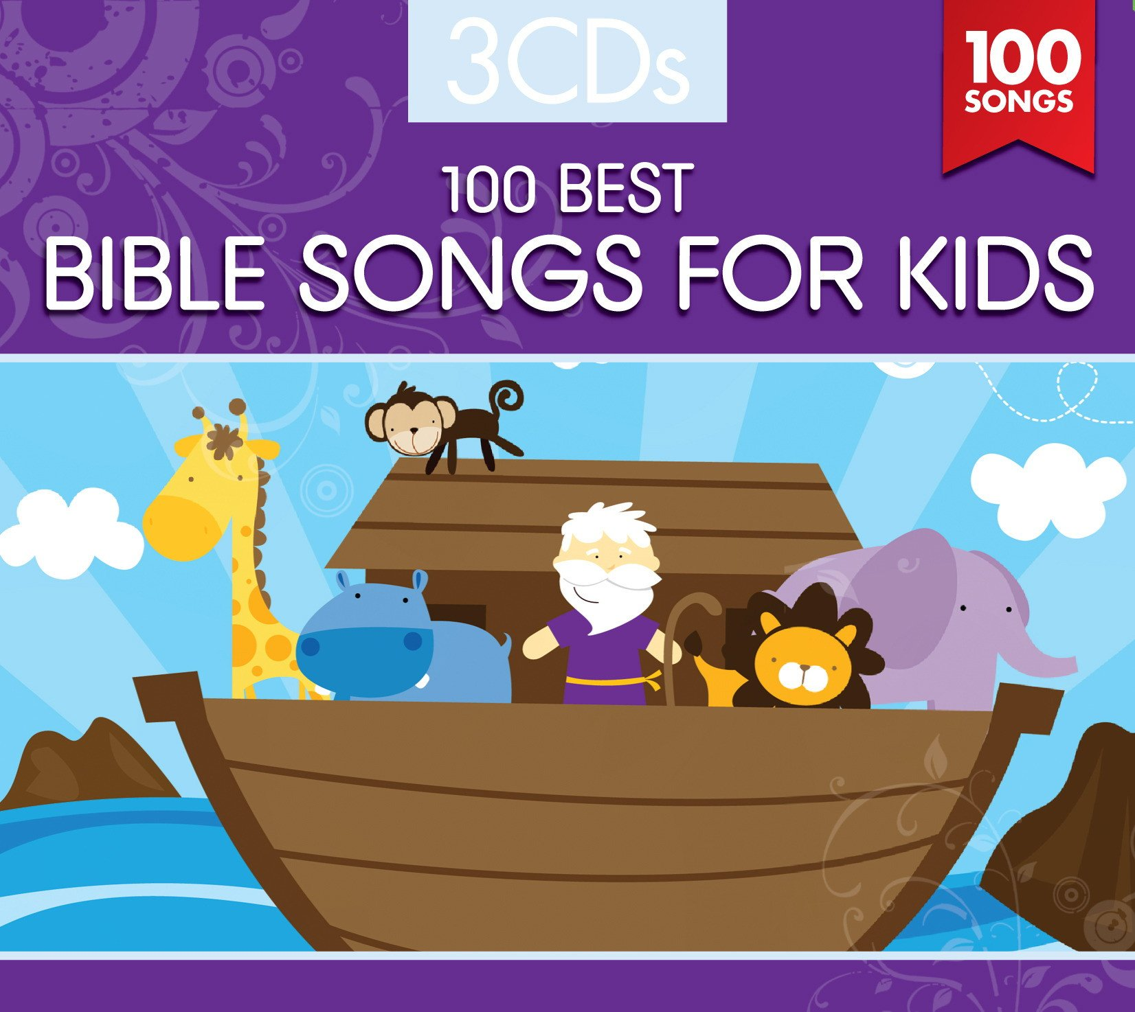 100 BEST BIBLE SONGS FOR KIDS (3 CD Set) by Capitol Christian Distribution (Image #1)