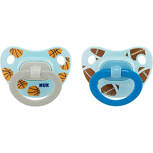 Amazon.com : NUK Sports Orthodontic Pacifiers, Boy, 18-36 ...