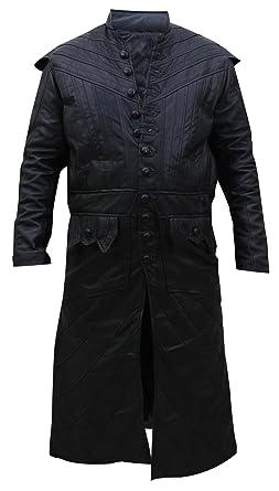 81969923b183 LP-FACON Black Sails Pirate Captain Flint Toby Stevens Black Leather Coat