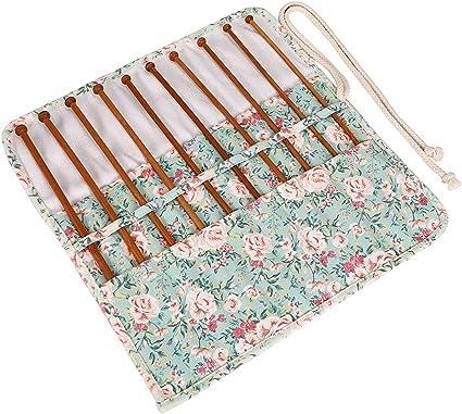 HANSHI - Estuche para agujas circulares de ganchillo con 10 compartimentos, no incluye accesorios.: Amazon.es: Hogar