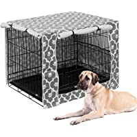 Pethiy Dog Crate Cover Durable Polyester Pet Kennel Cover Universal Fit for Wire Dog Crate - Fits Most 24-48 inch Dog…
