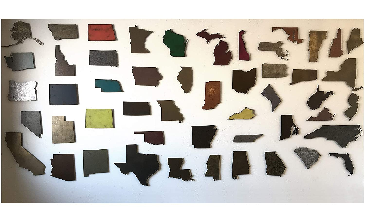 Choose your patina color and Any USA State 16 or 22 wide Arkansas metal wall art Choose 10 Handmade