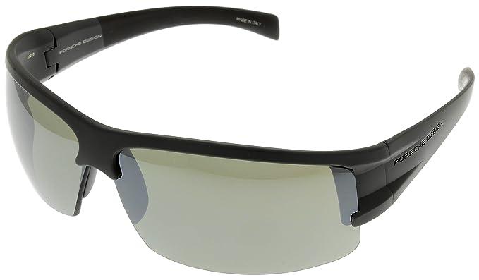 Amazon.com: Porsche Design anteojos de sol gris semi Rimless ...