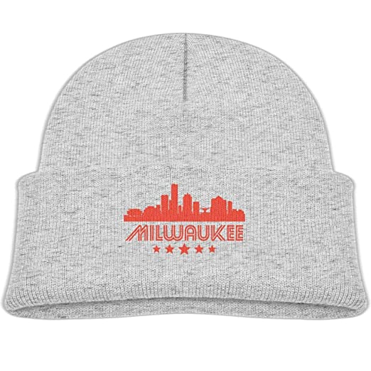 Amazon.com  Beanie Caps Retro Milwaukee Winter Knit Hat Baby Girls ... 8bb1b4c41b2