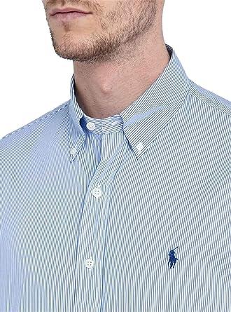 Ralph Lauren Chemise rayée Bleu et Blanche Slim fit pour Homme  Amazon.fr   Vêtements et accessoires b66ee814d151