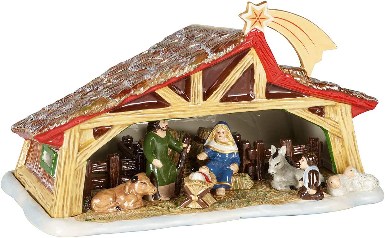 VILLEROY&BOCH 크리스마스 장난감의 기억 구유 다색 27X16X16CM 미국:한 사이즈 출생 장면