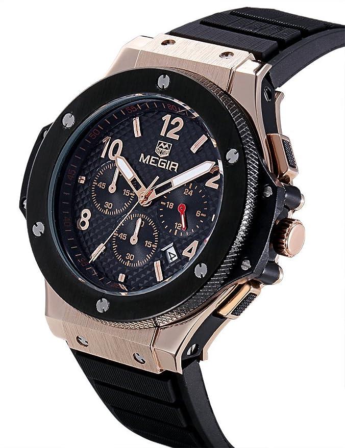 Amazon.com: Relojes de Hombre Chronograph Sport Watch Silicone Military De Hombre Para Caballero Elegante RE0101: Everything Else