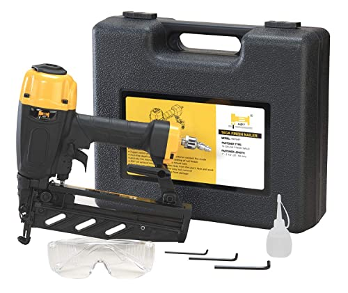 HBT HBT64P 16 Gauge Finish Nailer with Magnesium Housing, Straight Finish Nail Gun with Carrying Case, for 1-Inch up to 2-1 2-Inch Finish Nails