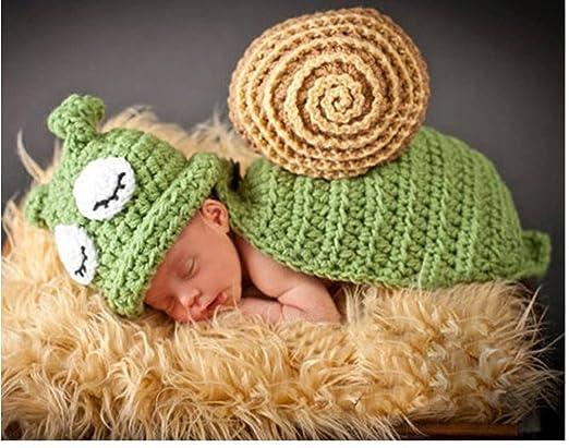 Jastore ® Foto Fotografie Prop Baby Kostüm grüne Schnecke häkel ...