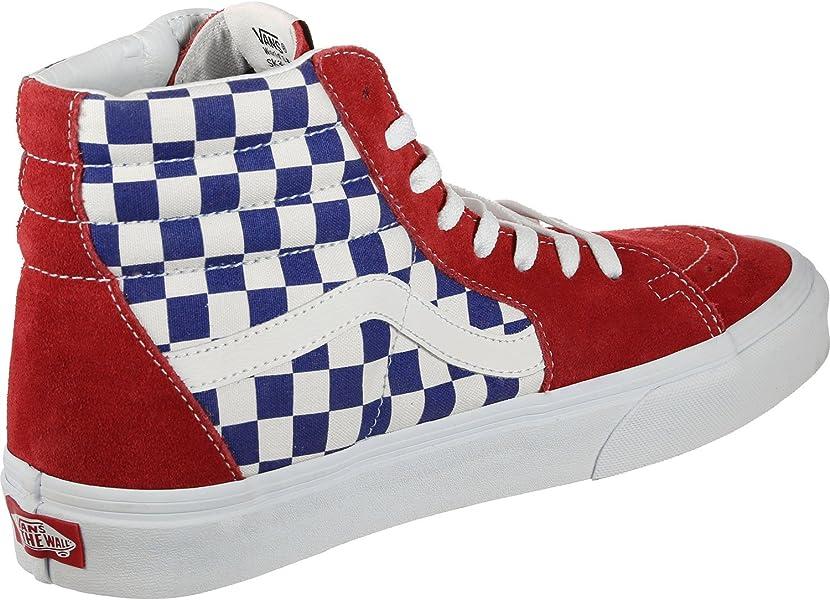 a1d421e64a Vans Mens U SK8 HI BMX Checkerboard True Blue RED Size 6 - Amazon Mỹ ...