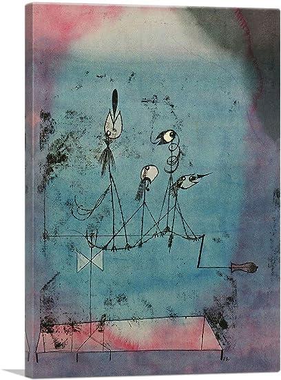 Twittering Machine >> Amazon Com Artcanvas Twittering Machine 1922 Canvas Art Print By