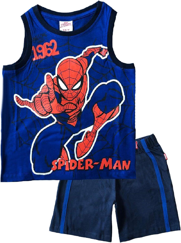 Completo Bambino Spiderman Mis 3 4 5 6 7 8 Anni Estate 2020