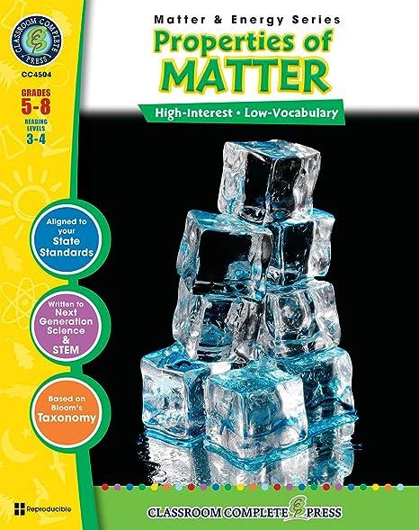 Properties Of Matter Gr 5 8 Energy