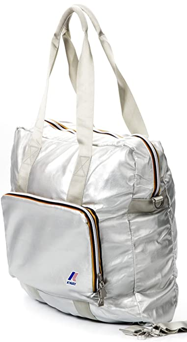 d9fe5185dcf6 K-way Shopper Borsa Donna Shopping Bag Men Women K1501-Argento  Amazon.it   Scarpe e borse
