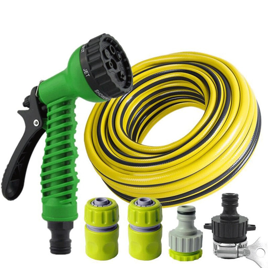 Hongyan Watering Can Garden Hoses Nozzle Reels 7 Ways Showers Car Cleaning Flower Watering Spray Supplies Garden Car Wash Watering Equipment Nozzles Spray Guns Drip Systems(100M) A+ (Size : 5M)