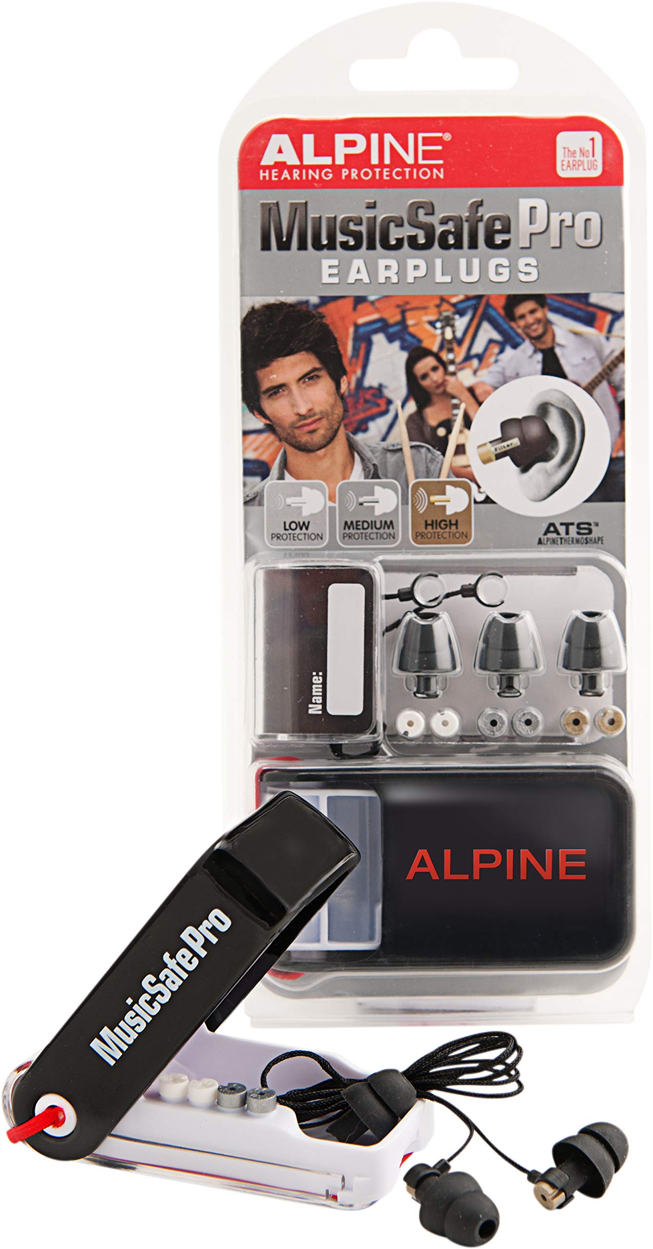 Alpine MusicSafe Pro Hearing Protection System for Musicians, Black