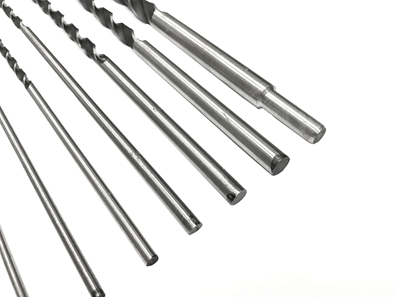 12 Extra Long Brad Point Wood Drill Bits SAE