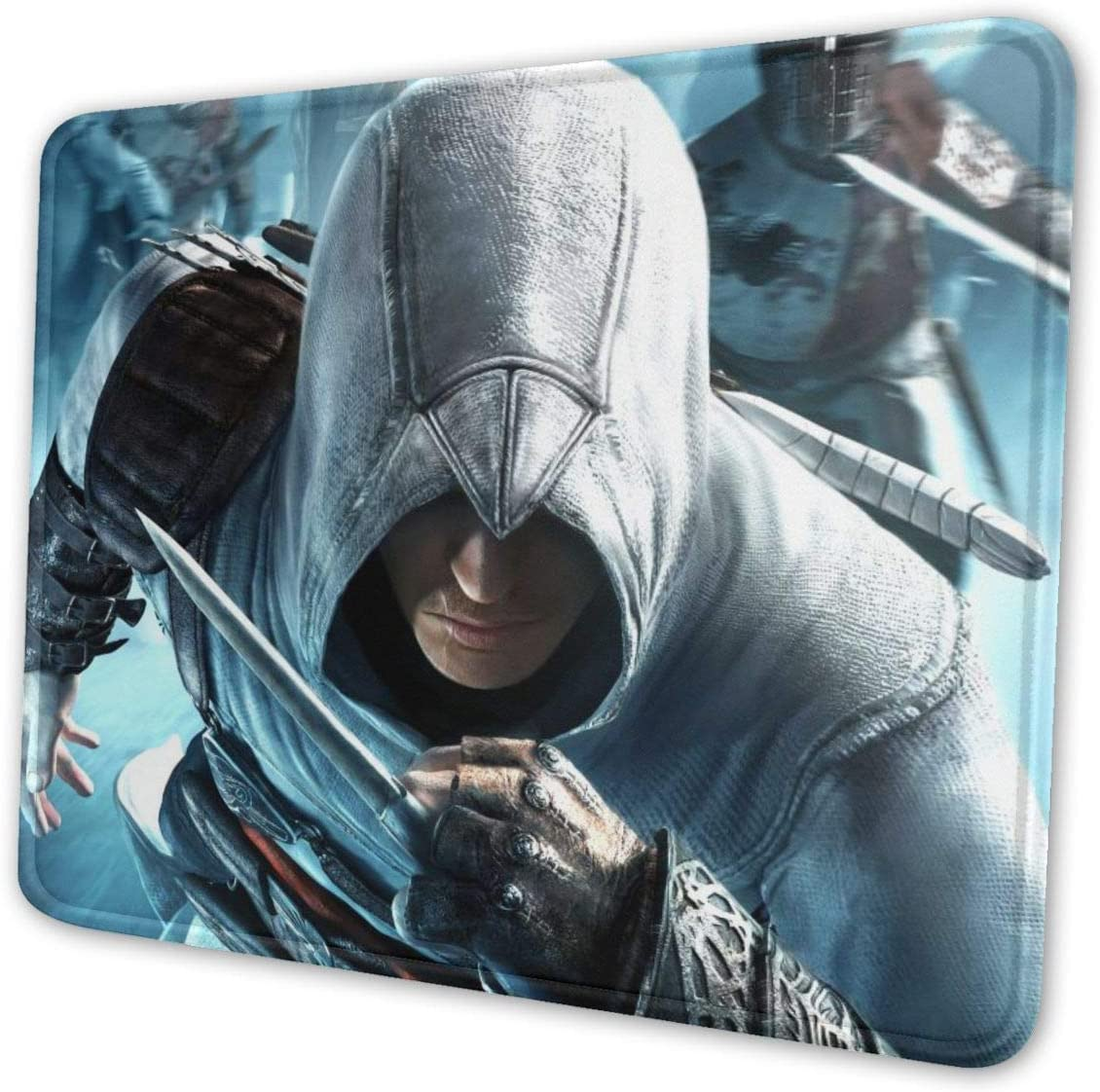 Assassins Creed Custom Fashion Premium Polyester Non-Slip Mouse Pad with Stitched Edge Gaming,Multiple Size to Choose,Suitable for All Types of Mouse