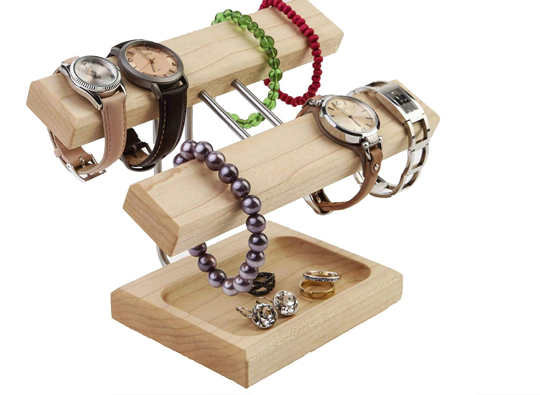 Uhrenhalter Armbandhalter Schmuckablage Ahornhholz geölt Handmade in Germany