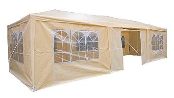 AirWave 5060176861916 - Pabellón, 3 x 9 m, de color beige, incluyendo 3