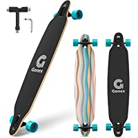 Gonex Longboard Skateboard, 42 Inch Drop Through Long Board Complete 9 Ply Maple Cruiser Carver for Girls Boys Teens…