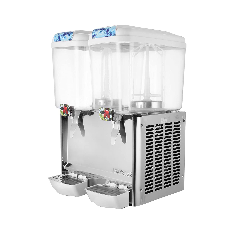Dispensador de zumo, de Succebuy. 2 tanques. 36 l. Para bebidas frías. De acero inoxidable: Amazon.es: Hogar