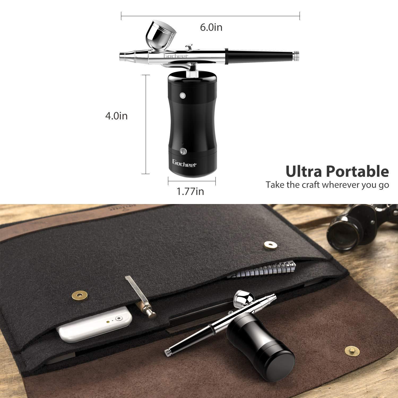 Gocheer Professional Airbrush Kit, Mini Airbrush Single Action Model  Airbrush Gun USB Rechargeable Air Brush Pen for Makeup Art Nail Painting  Tattoo
