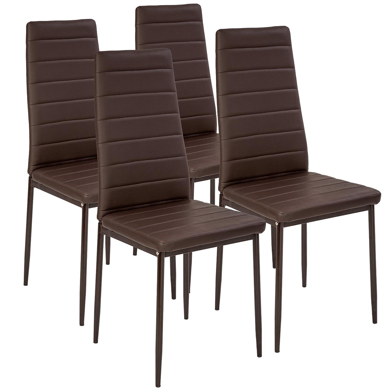 TecTake Set de sillas de Comedor 41x45x98,5cm - Disponible en Diferentes Colores y cantidades - (4X Marrón | No. 401844)