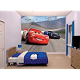 Disney Cars 3 Wall Mural, Multi-Colour