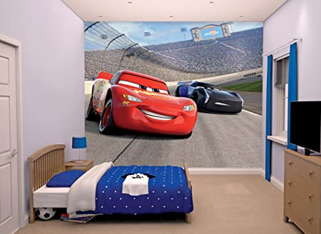 Awesome Disney Cars 3 Wall Mural, Multi Colour