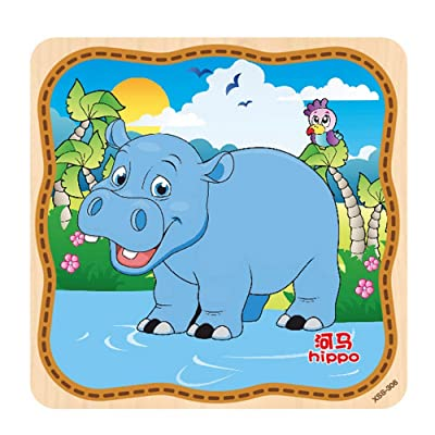 Wooden Puzzle Educational Developmental Baby Kids Training Toy intellective Educational Kids Families Artwork Teens Toddler Learning Entertainment Cooperative Toddler Learning Preschool: Toys & Games