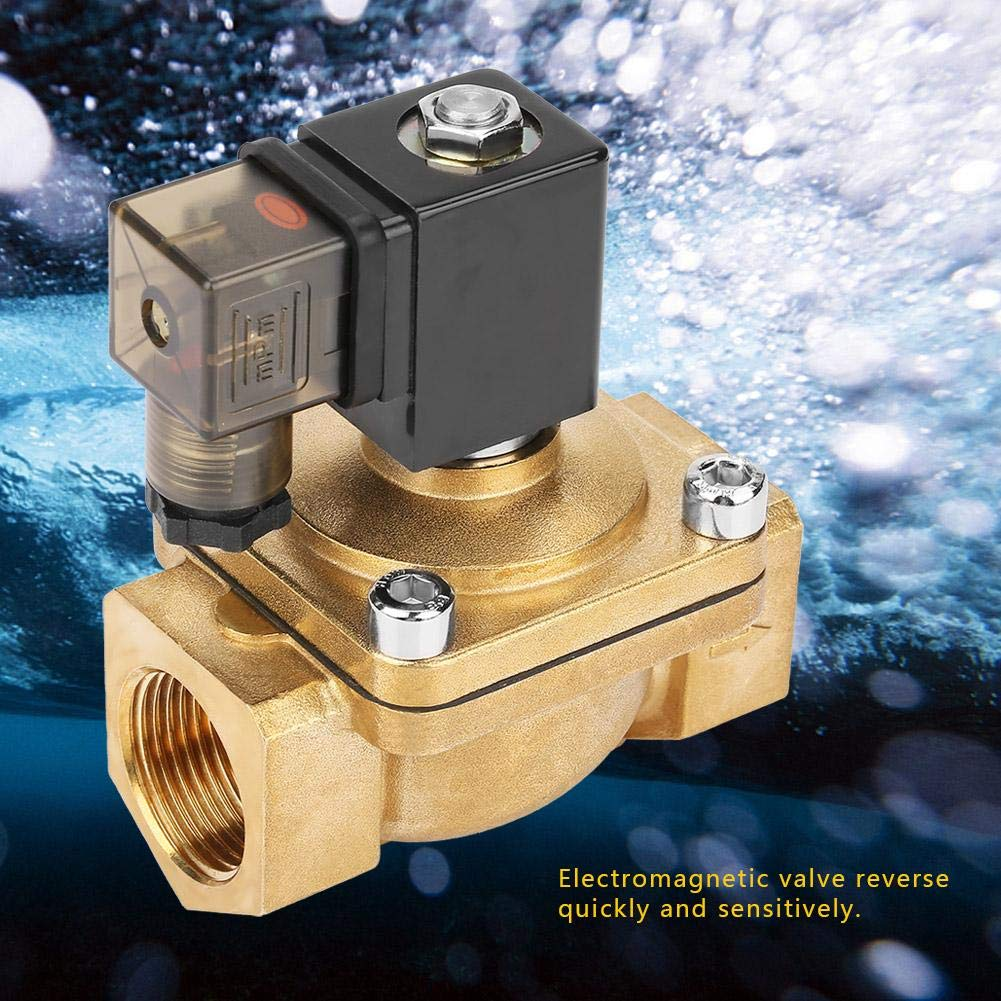 AC110V Electric Solenoid Valve PU220-08 G1 Brass Direct Action Electromagnetic Water Solenoid Valve