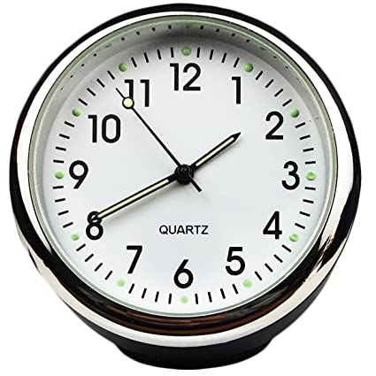 Custom High Accuracy Car Clock Small Round Onboard Quartz Clock white dial