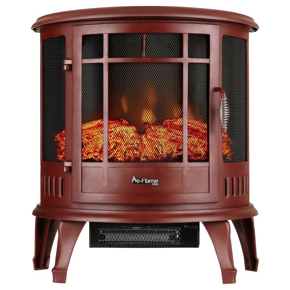 e-Flame USA Regal Free Standing Electric Fireplace (Red) by e-Flame USA