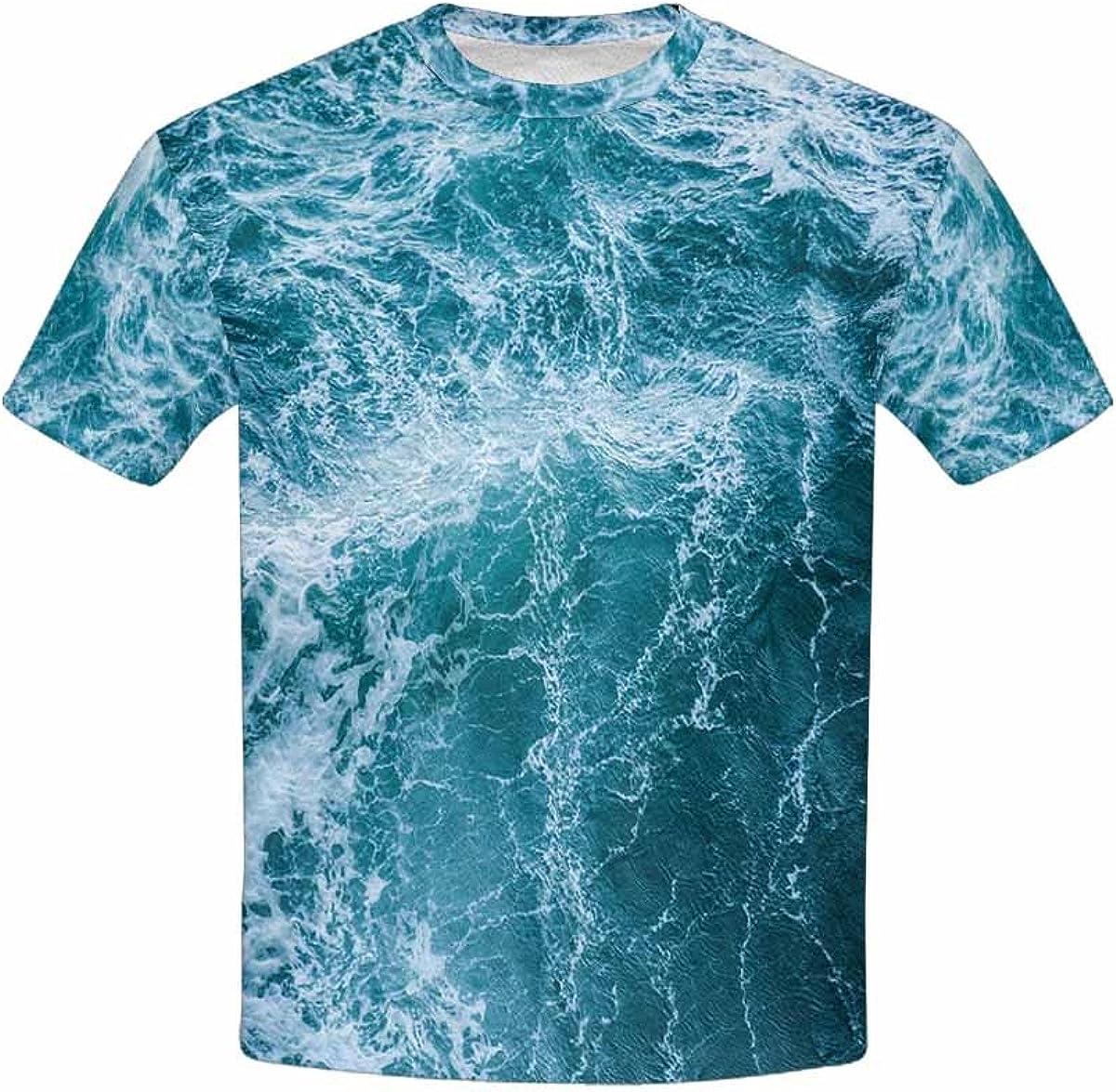 XS-XL INTERESTPRINT Kids T-Shirt Sea Waves During a Storm
