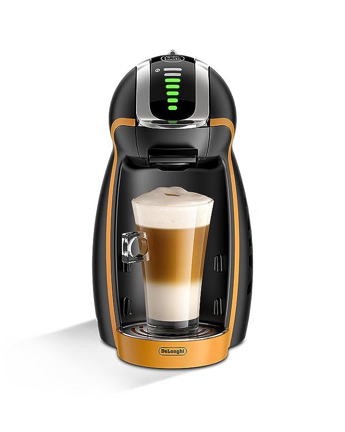DeLonghi Dolce Gusto Genio 2 EG 466 - Cafetera automática, color negro y naranja