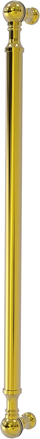 "Allied Brass P-3/18 18 Inch Beaded Refrigerator Appliance Pull, 18"" x 3/4"", Polished Brass"